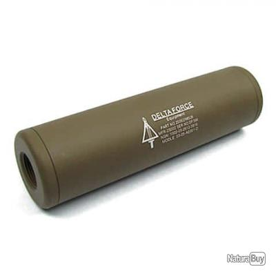Rep silencieux Delta Force Universel 110x30mm TAN - King Arms