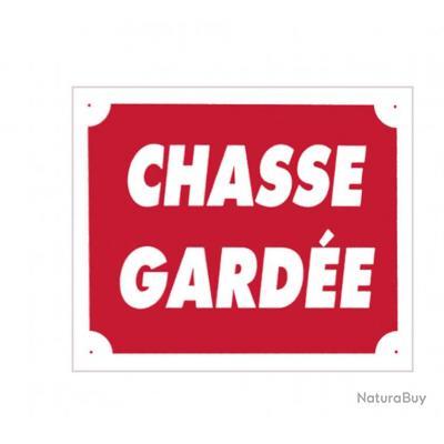 Panneau ''Chasse Gardée'' 30 x 25 cm Aluminium