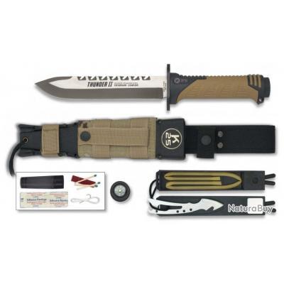 Couteau droit de survie K25 Thunder II