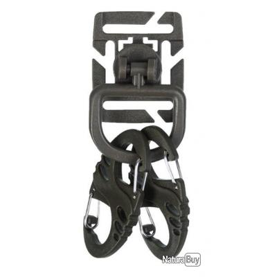 Kit 2 mousquetons Duraflex noir OD - Sport Attitude