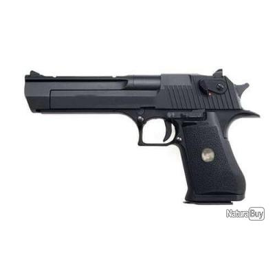 Réplique pistolet gbb à gaz Desert Eagle noir 0,8J - HFC