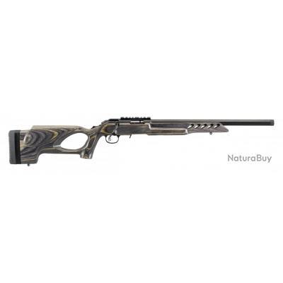 Caerabine Ruger american rimfire target Cal.22lr chargeur 10 coups canon de 46cm inox  lamelle noire