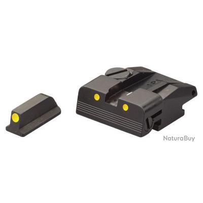 Hausse et guidon à pigment lumineux LPA - Pour Walther P99, PPQ, PPQM2 (No calibro 22)