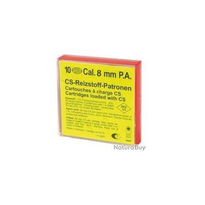 Boîte de 10 cartouches 8 mm PAK à gaz