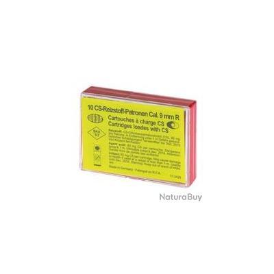 Boîte de 10 cartouches 9 mm RK à gaz CS