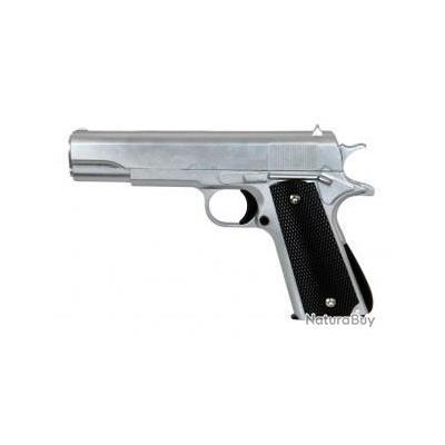 Réplique pistolet à ressort Galaxy G13S Silver full metal 0,5 joules