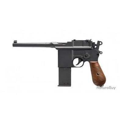 Réplique pistolet gnb à gaz C96 noir full metal 1,3J - HFC