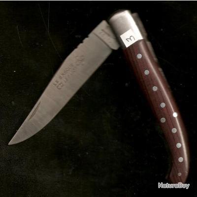 le BASQUE Clouté Bois de Violette* Couteau gravé à votre PRÉNOM GRATUIT