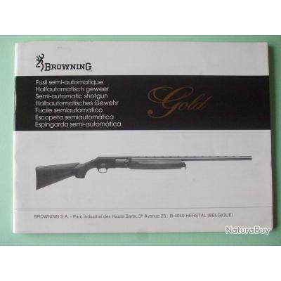 manuel mode d 39 emploi semi auto browning gold livres sur les armes de chasse 208665. Black Bedroom Furniture Sets. Home Design Ideas