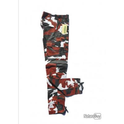 Pantalon treillis BDU M65 URBAN ROUGE taille 34