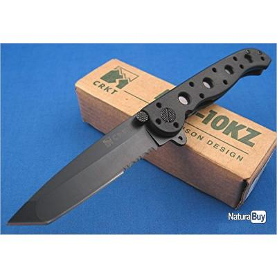 COUTEAU CR10KZ CRKT BLACK M-16 TANTO SERRATED TACTICAL