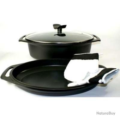 cocotte induction fonte d aluminium plat empilable mat riel de cuisine 451991. Black Bedroom Furniture Sets. Home Design Ideas