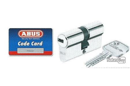 cylindre,canon barillet haute sûreté ABUS 45x55 5 clés réversibles micropoints