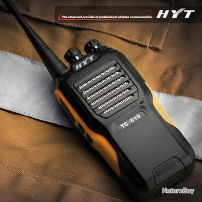 hyt tc 610 talkie walkie pro tr s longue port e ip66 talkies walkies et accessoires 465230. Black Bedroom Furniture Sets. Home Design Ideas