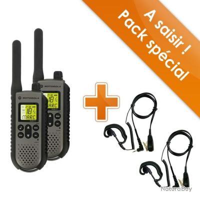 Paire de talkies walkies motorola t7 oreillettes - Oreillette talkie walkie motorola ...