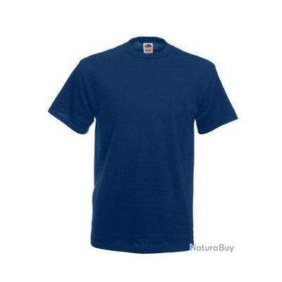 lot de 10 tee shirt fruit of the loom marine s sc61212. Black Bedroom Furniture Sets. Home Design Ideas