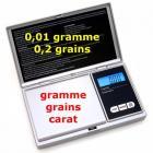 Balance digitale prec.100g/0,01g Neuf - GRAINS CARAT Garantie