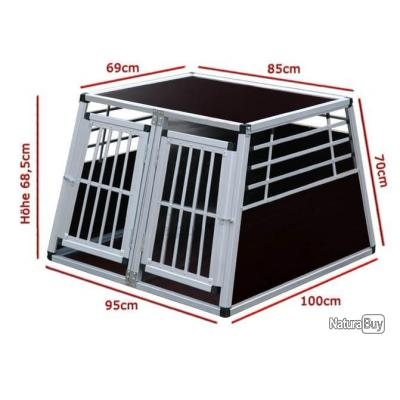 cage n 14 box de transport pour chien aluminium cages caisses sacs et remorques de transport. Black Bedroom Furniture Sets. Home Design Ideas