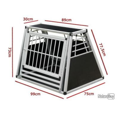cage n 28 box de transport pour chien aluminium cages caisses sacs et remorques de transport. Black Bedroom Furniture Sets. Home Design Ideas