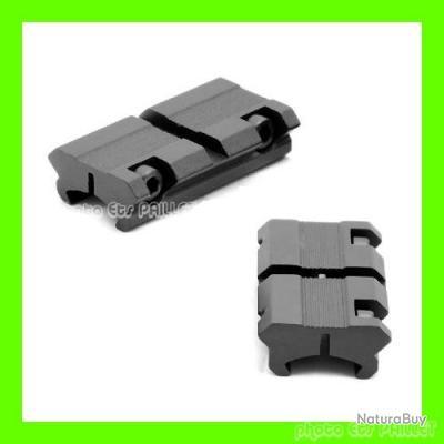PAIRE de Convertisseurs Adaptateurs Rail de 11 mm vers 22 mm Weaver Neuf
