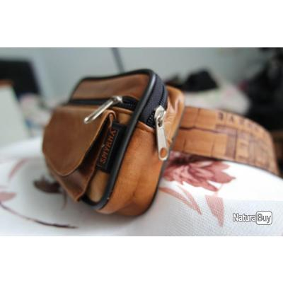 3c8c32d5346b Sac en cuir fait main, mini sac de ceinture, étui en cuir,pochette ...
