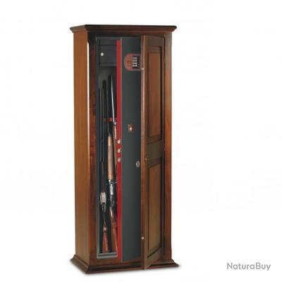 armoire coffre fusils digital recouvert en bois teint noyer 7 fusils top qualite top prix. Black Bedroom Furniture Sets. Home Design Ideas