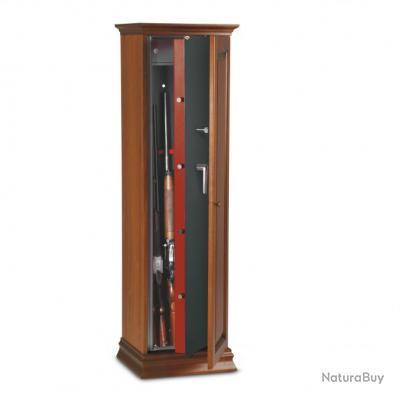 armoire coffre fusils cl s recouvert en bois teint. Black Bedroom Furniture Sets. Home Design Ideas