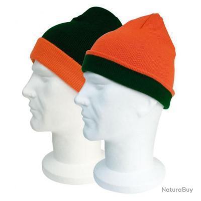vente en ligne Achat/Vente acheter authentique bonnet chasse reversible KAKI / orange battue top prix !!!!!!