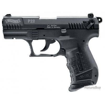 pistolet 9 mm a blanc walther p22 noir pistolets d. Black Bedroom Furniture Sets. Home Design Ideas