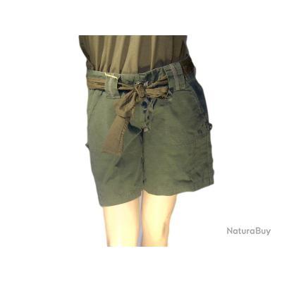 Short Vintage Kaki  Femme Taille S
