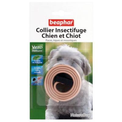 collier antiparasitaire naturel pour chien ou chiot couleur beige anti parasitaires 989578. Black Bedroom Furniture Sets. Home Design Ideas