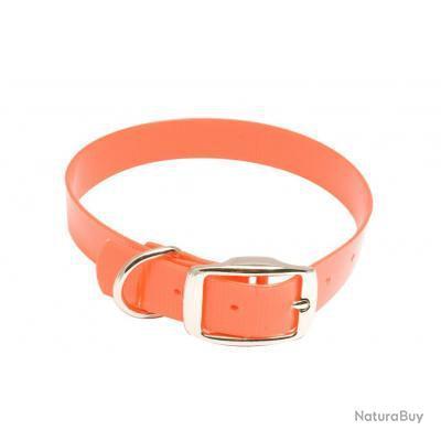 Collier pour chien Hiflex orange fluo Largeur 20mm longueur 35cm