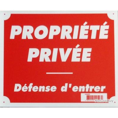 PANNEAU PROPRIETE PRIVEE