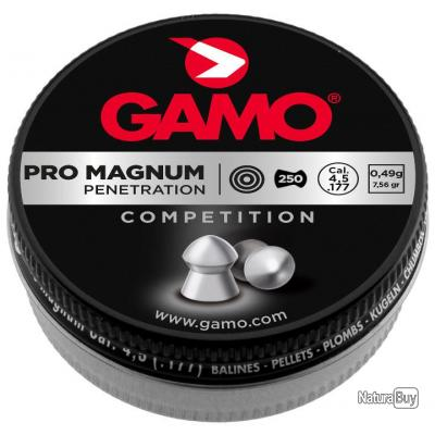 250 PLOMBS PRO MAGNUM TETE POINTUE CAL. 4,5 MM