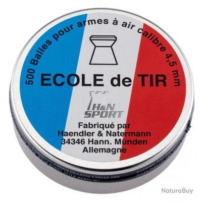 "500 PLOMBS ""ECOLE DE TIR"" CAL. 4,5 MM"