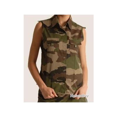 Femme S Sans Militaria Ce Chemises Camo Taille Manche Chemisier ZxTn1aRR