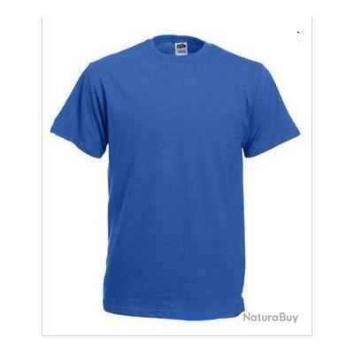 lot de 10 tee shirt fruit of the loom bleu xl sc61212. Black Bedroom Furniture Sets. Home Design Ideas
