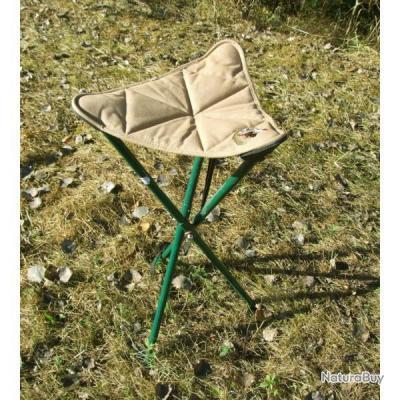 Trépied en acier avec assise en tissus