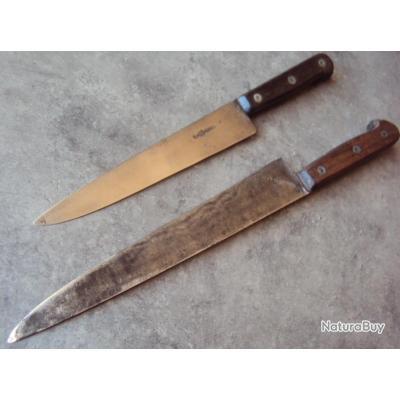 lot 2 anciens couteaux thiers gimel dufour couteaux de table et de cuisine 1175528. Black Bedroom Furniture Sets. Home Design Ideas