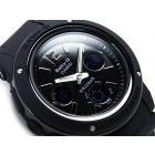 Belle Baby-G BGA151-1B Solid Black Analogig, Digital, Chrono, Stopwatch watch