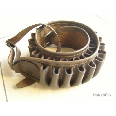 cartouchière ceinture A. mareuil 30 tubes cuir ! top prix !!!! cal 20 !  coloris unique ! bronze b3bb9879c05