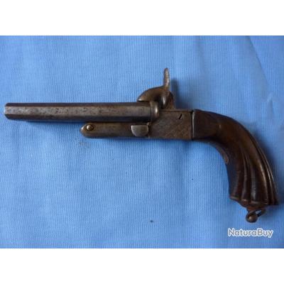 pistolet ancien broches lefaucheux 2 canons basculants pistolets et revolvers broches. Black Bedroom Furniture Sets. Home Design Ideas