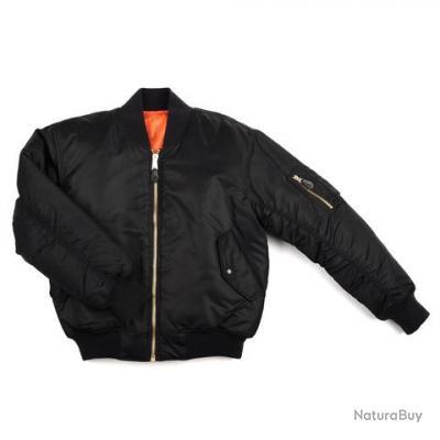 bombers ma 1 uni couleur noir taille 5xl 56 1214011 vestes blousons et manteaux. Black Bedroom Furniture Sets. Home Design Ideas