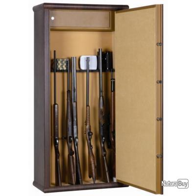 coffre fort armoire infac wood look 12 armes lunette coffre top prix livraison offerte. Black Bedroom Furniture Sets. Home Design Ideas
