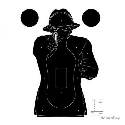Cible Silhouette Police Paquet de 10