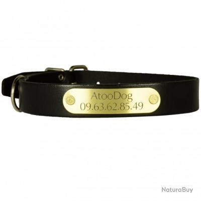 collier chien en cuir grav 55cm colliers classiques 1416984. Black Bedroom Furniture Sets. Home Design Ideas