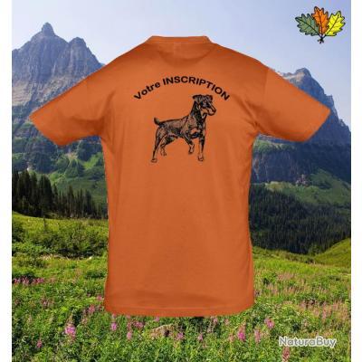tee shirt orange personnalis dos motif jagd terrier tee shirts 1424343. Black Bedroom Furniture Sets. Home Design Ideas