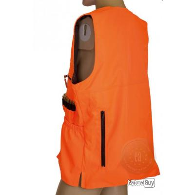 gilet de traque matelass orange fluo normes ce taille xxxxxl gilets de chasse 1434557. Black Bedroom Furniture Sets. Home Design Ideas