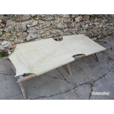 lit de camp us ww2 marquage us du fabricant lit picot militaire tbe usa 39 45 lits. Black Bedroom Furniture Sets. Home Design Ideas