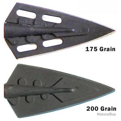 Lame de chasse ACE Super Express 175 et 200 grains Pack de 6 lames